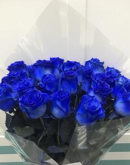 Bouquet of 25 blue roses | Delivery and order flowers in Kostanay