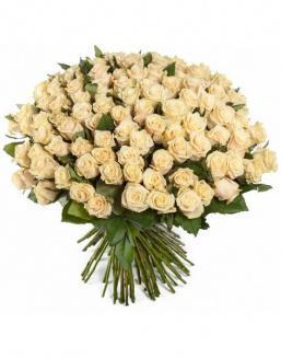 Bouquet of 51 cream roses | Roses to mother,to colleague flowers