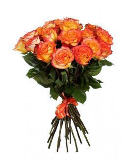 Bouquet of 15 orange roses | Carroty roses
