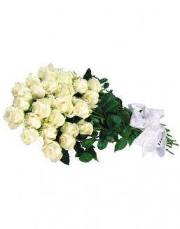 Bouquet of 15 white roses | Delivery and order flowers in Kostanay