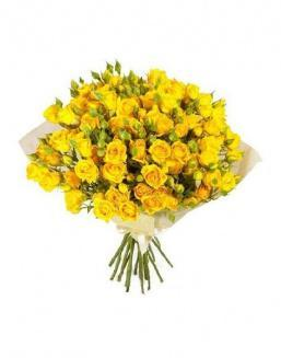 Bouquet of 51 yellow rose bushes | Roses to mother,to colleague flowers
