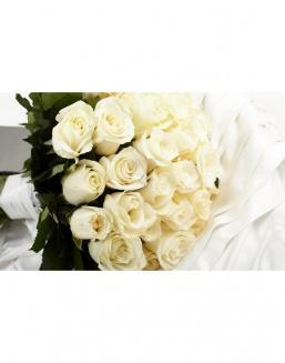 Bouquet of 15 white spray roses | Roses to mother,to colleague flowers