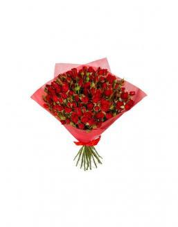 4Bouquet of 15 red spray roses | Delivery and order flowers in Kostanay