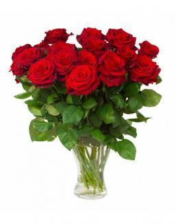 Bouquet of 15 red roses | Roses to mother,to colleague flowers