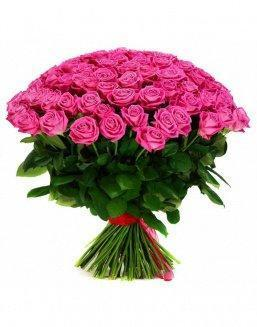 Bouquet 101 pink holland roses | Delivery and order flowers in Kostanay