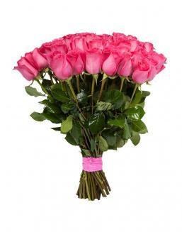 Bouquet of 15 pink Dutch roses | Delivery and order flowers in Kostanay