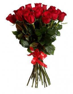 Bouquet of 15 red Dutch roses | Delivery and order flowers in Kostanay