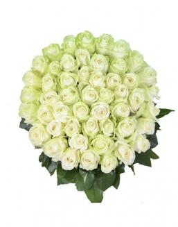 Bouquet 101 white roses | Delivery and order flowers in Kostanay