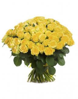 Bouquet of 101 yellow holland roses | Roses to mother,to colleague flowers