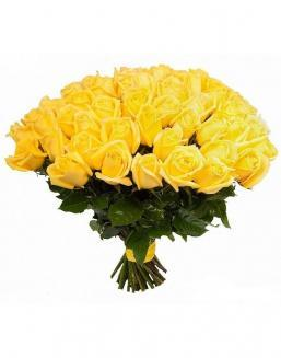 Bouquet of 51 yellow roses | Roses