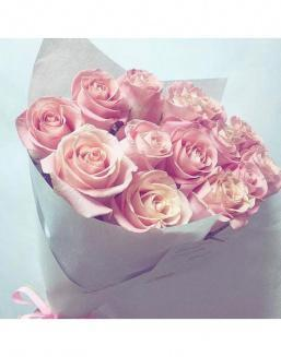 Bouquet of pink roses | Roses to mother,to fiancee flowers
