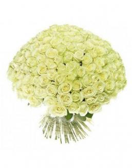 Bouquet 201 white roses | Delivery and order flowers in Kostanay