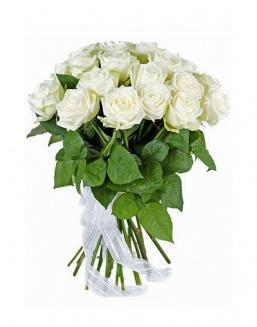 21 high elite white roses | Delivery and order flowers in Kostanay