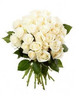 Bouquet of 33 white roses | Dutch roses,roses to mother flowers