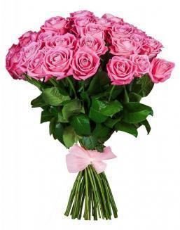 33 high elite pink roses | Delivery and order flowers in Kostanay