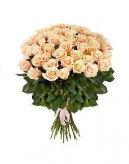 77 high elite cream roses | Delivery and order flowers in Kostanay