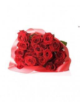 Bouquet of 21 red roses | Roses to mother,to colleague flowers