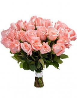 Bouquet of 33 pink roses | Roses to mother,to colleague flowers