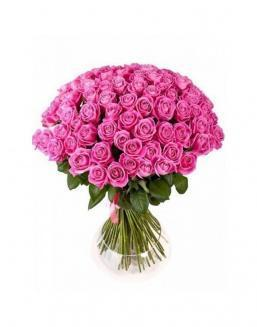 Bouquet of 77 pink roses | Roses to mother,to colleague flowers
