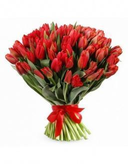 Bouquet 201 red tulips | Delivery and order flowers in Kostanay